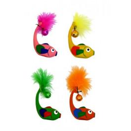 Игрушка для кошек Рыбка с бубенцом, латекс, 11см Papillon