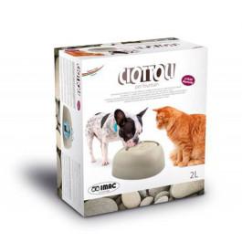 IMAC Питьевой фонтан Pet Fountain для кошек и собак 2л 32*28*13 см бежево-серый