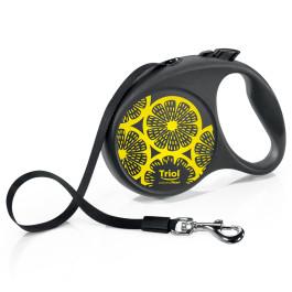TRIOL Поводок-рулетка для собак Flexi Joy Lemon 5м, лента