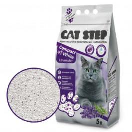 CAT STEP Compact White Lavеnder комкующийся наполнитель с ароматом Лаванды 5л
