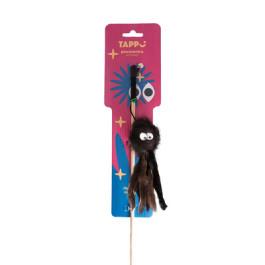 """Игрушка для кошек Дразнилка """"Стим"""" осьминог из натурального меха норки на веревке Tappi"""