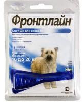 Фронтлайн Спот Он Капли для собак 10-20кг от блох и клещей, М по 1,34мл*1пипетка