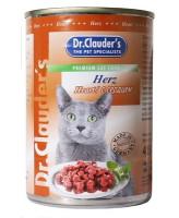 Dr.Clauder's консервы для кошек, сердце кусочки в соусе 415г