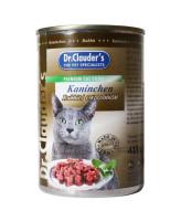Dr.Clauder's консервы для кошек, кролик кусочки в соусе 415г