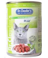 Dr.Clauder's консервы для кошек, дичь кусочки в соусе 415г