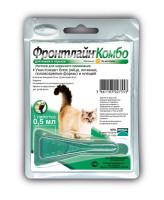 Фронтлайн Комбо Капли для кошек от блох и клещей 0,5мл *1шт