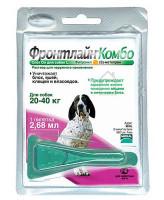 Фронтлайн Комбо Капли для собак 20-40кг от блох и клещей 2,68мл*1шт