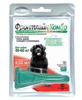 Фронтлайн Комбо Капли для собак 40-60кг от блох и клещей 4,02мл* 1шт