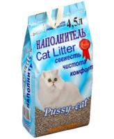 Pussy-Cat впитывающий наполнитель 4,5л (голубой)