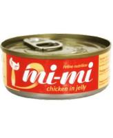 Mi-Mi консервы для кошек цыплёнок в желе 80гр