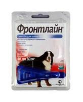 Фронтлайн Спот Он Капли для собак 40-60кг от блох и клещей, ХL 4,02мл*1пипетка