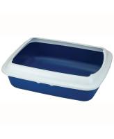 Туалет для кошек Triol прямоугольный с бортом СТ04 50,5*39*15см темно-синий