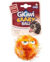 GiGwi Мяч теннисный Grazy Ball с пищалкой, оранжевый 7см