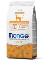 Monge Cat Speciality line Light низкокалорийный корм для кошек с индейкой