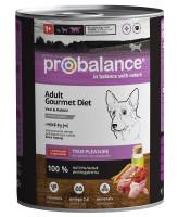 ProBalance Gourmet Консервы для собак с телятиной и кроликом 850г