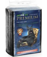 Петмил Пеленка впитывающая одноразовая с суперабсорбентом черная 60*90см 8шт