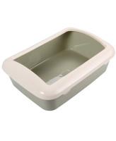 Туалет для кошек Triol прямоугольный с бортом 42*30*14,5см оливковый