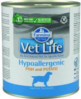 Farmina Vet Life Hypoallergenic Диета для собак при пищевой аллергией, рыба с картофелем 300г паштет