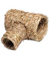 """Triol Домик NATURAL для мелких животных из луговых трав """"Труба"""", 290*250*160мм"""