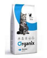 Organix Корм для кошек с чувствительной кожей, со свежим лососем