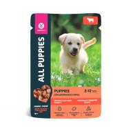 All Puppies консервы для щенков Тефтельки с говядиной в соусе 85г пауч