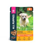 All Puppies консервы для щенков Тефтельки с индейкой в соусе 85г пауч