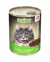 Зоогурман Big Cat консервы для стерилизованных кошек кусочки в желе, Курица с индейкой 350г