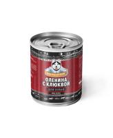 Погрызухин консервы для собак Оленина с клюквой
