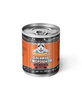 Погрызухин консервы для собак Оленина с морошкой