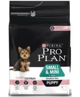 Pro Plan Small & Mini Pappy корм для щенков мелких пород с чувствительной кожей, лосось