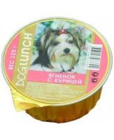 Дог Ланч консервы для собак крем-суфле с ягнёнком с курицей 125г