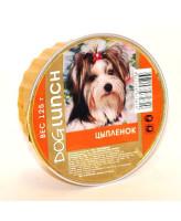 Дог Ланч консервы для собак крем-суфле с цыплёнком 125г