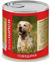 Дог Ланч консервы для собак  Говядина в желе 750г