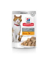 HILL'S Science Plan Sterilised консервы для стерилизованных кошек Курица в соусе 85г пауч