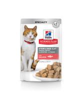 HILL'S Science Plan Sterilised консервы для стерилизованных кошек Лосось в соусе 85г пауч