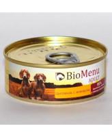 BioMenu консервы для собак Цыпленок с ананасом 100г