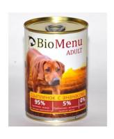 BioMenu консервы для собак Цыпленок с ананасом 410г