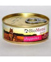 BioMenu консервы для кошек паштет с Индейкой 100г