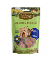 Деревенские лакомства для собак мини-пород Медальоны из ягненка 60г