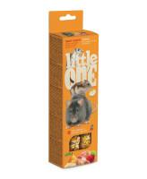 Little One  Палочки для хомяков, крыс, мышей и песчанок с Фруктами и орехами 2шт*55г