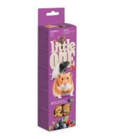 Little One  Палочки для хомяков, крыс, мышей и песчанок с ягодами 2шт*55г
