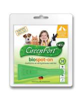 GreenFort БиоКапли от эктопаразитов для кошек, собак до 10кг и кроликов 1 пипетка 1мл