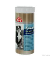 8in1 Excel Пивные дрожжи c чесноком для улучшения кожи и шерсти для крупных собак 80табл.
