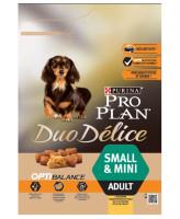 Pro Plan DUO DELICE Small & Mini корм для собак мелких и миниатюрных пород, курица/рис 2,5кг
