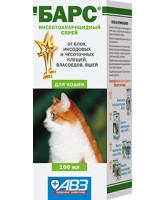 Барс Спрей от блох и клещей для кошек 100мл