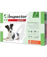Инспектор Quadro С капли для собак весом  4-10кг от внешних и внутренних паразитов 1 пипетка