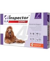 Инспектор Quadro С капли для собак весом 10-25кг от внешних и внутренних паразитов 1 пипетка
