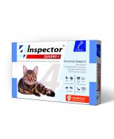 Инспектор Quadro К капли для кошек от 1 до 4кг от внешних и внутренних паразитов 1 пипетка