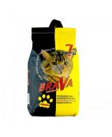 Brava Минеральный впитывающий наполнитель для гладкошерстных кошек и котят 7л