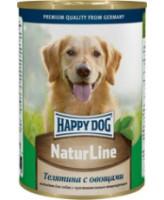 Happy Dog Nature Line консервы для собак Телятина с овощами 400г